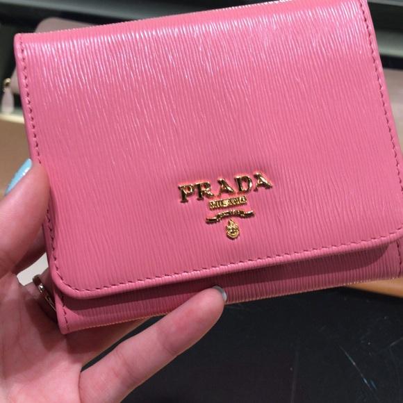 d46b054fec Prada trifold wallet women NWT